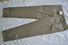 Brunello Cucinelli Men's Flat-Front Pants Size 39-40US 56EU Gray Made in Italy