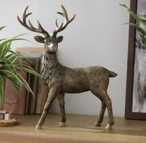 Moorlands Standing Stag Objet New Gift Unwanted Christmas Wild Animal Country