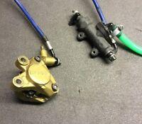 BREMBO rear gold caliper with brake pads + master cylinder + brake hose