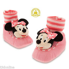 Minnie Mouse Plush Slippers for Baby Girl Disney Baby Shoes Slipper Genuine