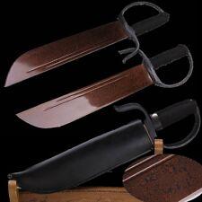 Handmade A Pair Chinese Kungfu Sword Wing chun Sword Red Pattern Steel Sharp