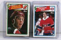 1988-89 Topps Hockey #122 Brendan Shanahan Rookie card and  #116 Patrick Roy
