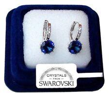 Orecchini da donna pl.oro bianco 18K zirconi cristalli swarovski veri SW13/punto