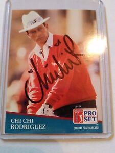 Chi Chi Rodriguez In Person Auto on 1991 PGA Pro Set JSA COA T05125
