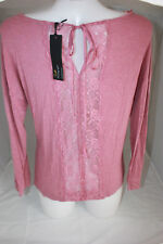 Rosie Autograph M&S Marks lace back jersey top loungewear  BNWT UK 6 XXS pink