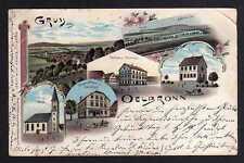 101005 AK Ölbronn Litho 1899 Kirche Versandhaus Rathaus Schule Post Mühle Aalküs