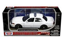 Motor Max 1/24 2010 Ford Crown Victoria Police Interceptor Diecast Car 76469