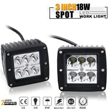 2x 3inch LED Cube Pods Light Bar Spot Driving Lamp 4WD SUV Truck UTE Offroad ATV