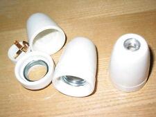 1 une Douille E27 céramique porcelaine lisse pas international 10 x 1. lampe lus