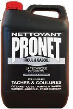 NETTOYANT FIOUL GASOIL 5L PRONET sur sol pompe cuve citerne matériel agricole