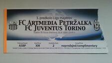 # Ticket ARTMEDIA PETRZALKA - JUVENTUS TORINO 08/09 Champions L. Slovakia Italy