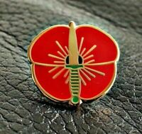 ROYAL MARINES RED  PIN BADGE BRITISH ARMY VETERAN