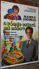 Used - Cartel de Cine  ¿DONDE ESTARA MI NIÑO?  Vintage Movie Film Poster - Usado