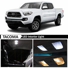 12x 2016-2018 Toyota Tacoma White Interior LED Lights Package Truck Kit