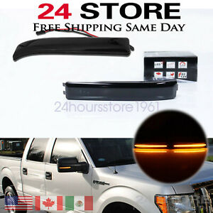 For 2009-14 Ford F-150 Raptor LED Side Mirror Reflector Amber Turn Signal Light