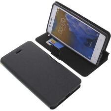 Tasche für Nokia 3 Smartphone Book-Style Schutz Hülle Handytasche Buch Schwarz