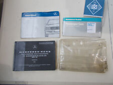1988 Mercedes R107 560SL OWNERS MANUAL USER GUIDE Maintenance Booklet 107736