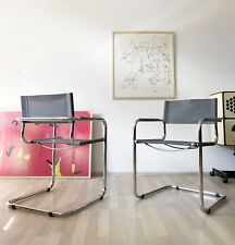 1of4 Vintage Moderniste 80 s 90 s Cantilever Chaise CUIR MATTEO GRASSI Style