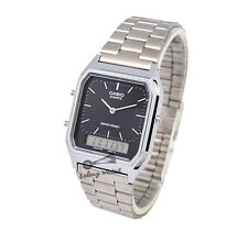-Casio AQ230A-1D Dual Time Watch Brand New & 100% Authentic