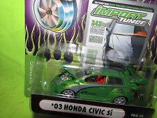 03 HONDA CIVIC Si muscle machine Import street race SST tuner funline 1/64 GREEN
