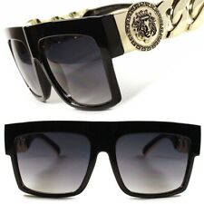 Swag Hip Hop Rapper Rich Look Stylish Gold Link Chain Mens Womens Sunglasses