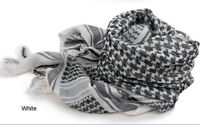 Cover New Army Military Tactical KeffIyeh Scarves Arab Shemagh Shawl Neck White