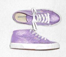 SUPERGA sneakers toile effet lurex violet P 38 TBE