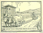 Ox Turkey Bulgaria Greece Macedonia TOBACCO HISTORY HISTOIRE TABAC CARD 30s