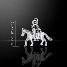 Danu Horse and Riders Sterling Silver Charm by Peter Stone