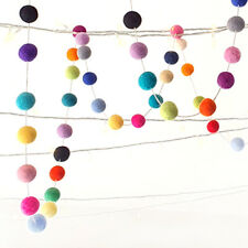 MULTI COLOUR garland. Colourful Felt balls. Pom Pom. Baby.Kids Party Decor Wall