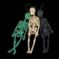 Halloween jouet longueur 20cm réaliste homme squelette moule méfait jouet