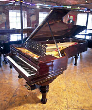 Rebuilt, 1886, Steinway Model D grand piano with a rosewood case & turned legs