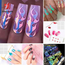 Patterns/Sheets/Mirror/Flower Nail Art Stencil Sticker Template Vinyls Decor