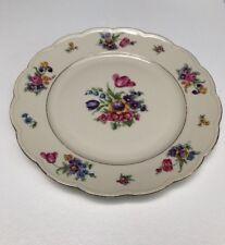 "Royal Bayreuth Bavaria ~Garden Flowers~ 8 3/4"" Salad Plate"