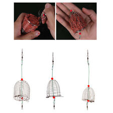 Small Bait Cage Fishing Trap Basket Feeder Holder Fishing Tool Tackle Accessory