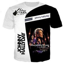 hip hop Johnny Hallyday 3D Print T-Shirt Women/Men's Casual Short Sleeve