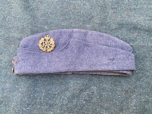 Original WW2 RAF Other Ranks Serge FS Field Service Forage Cap & Badge - 1944?