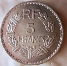 1949 FRANCE 5 FRANCS - AU/UNC - CLOSED 9 - FREE SHIPPING - France Bin #12