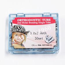 200pc 2nd Molar Roth 0.022 Non-Convertible Dental Orthodontic Split Buccal Tube