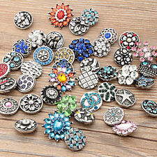 wholesale 10pc/lot 18mm Interchangeable metal Buttons Snap Charms chunk Jewelry2