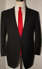 Corneliani Gray Windowpane Check Two Button 120s Wool Suit Size 42 R 36 28 Pants
