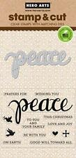Peace Hero Arts Christmas Clear Stamp & Cut Thin Metal Die Set DC187 NEW!