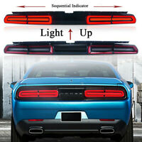 RED LED Tail Light Rear Lamp For 08-14 Dodge Challenger Coupe 2-Door Sequential