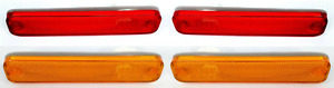 Front & Rear Side Marker Lights Lamps Assemblies for Ford Truck, Bronco, & Van