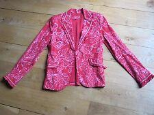 Veste CHACOK motif floral rose T1
