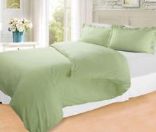 3 Pcs Green Duvet and Shams FULL Size Bed Soft Comforter Collection Bedding Set