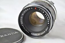 Miranda (Red) E 50mm 1:1.8 MF Camera Lens Bayonet Mount with Case & Lens Cap