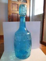ROOT BITTERS,OCEAN BLUE,7 1/2 in bottle,3 in Top,Taiwan,1970's Bottle and Top