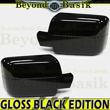 04-08 F150 06-08 Mark LT GLOSS BLACK Mirror Covers Overlays for POWER MIRRORS