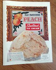 1958 Sealtest Ice Cream Ad  Old Fashioned Peach